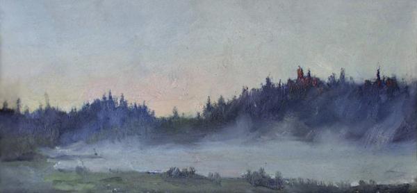 Ярослав Зяблов. Туман над озером