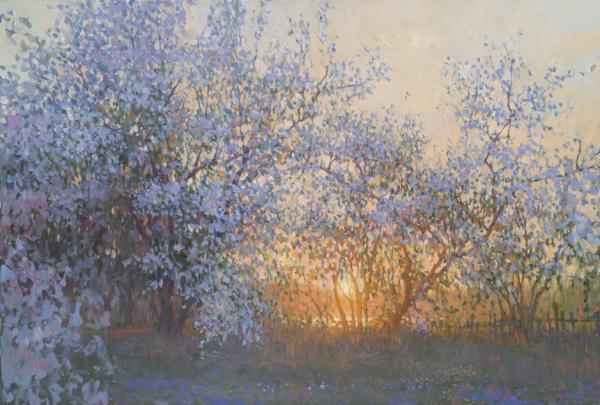 Ярослав Зяблов. Вечер в цветущем саду.