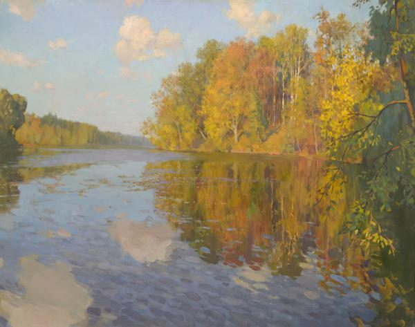 Ярослав Зяблов. Осенью на озере.