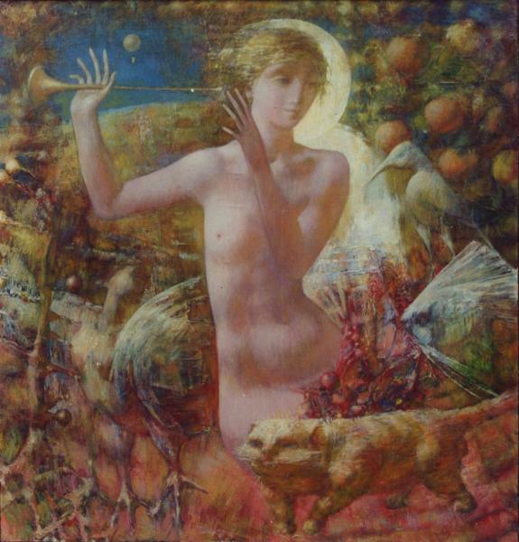 Yaroslav Zyablov. In Arcadia before...(left part of triptych)