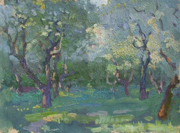 Yaroslav Zyablov. Evening in the garden