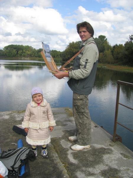 Ярослав Зяблов. На этюдах