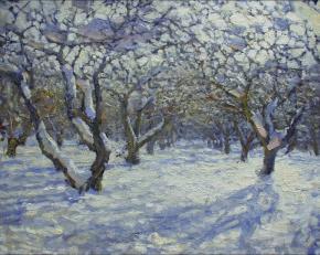 Yaroslav Zyablov. Garden in winter
