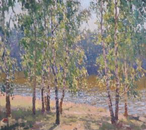Yaroslav Zyablov. Birchs beside water
