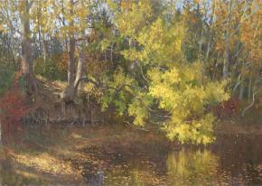 Ярослав Зяблов. Осенью у пруда