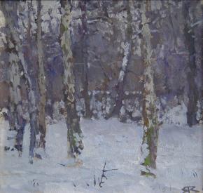 Yaroslav Zyablov. In the park in winter