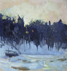 Yaroslav Zyablov. Sun behind the woods